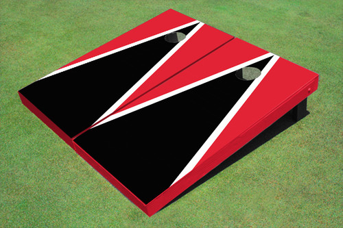 Painted Corn Hole Dark Gold and Navy Matching Triangle Cornhole Boards