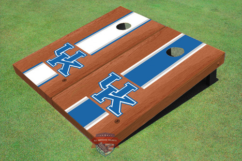 University Of Kentucky Rosewood Alternating Long Stripe Cornhole Boards
