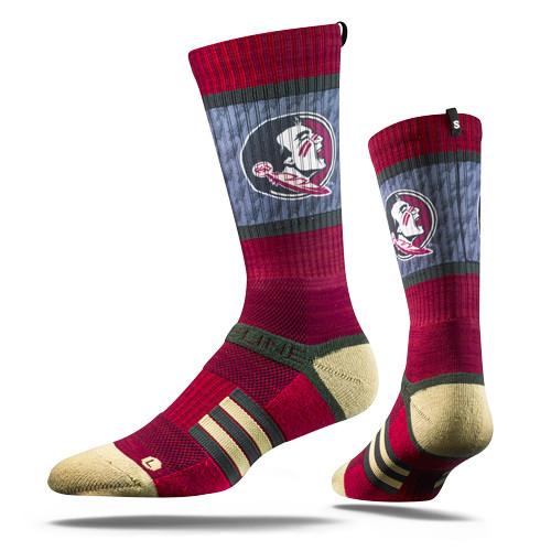 Florida State University Maroon Seminole  Strapped Fit 2.0 Socks