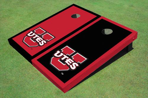 University Of Utah 'UTES' Alternating Border Cornhole Boards