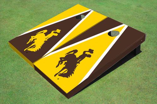 University Of Wyoming Cowboys Alternating Triangle Cornhole Boards