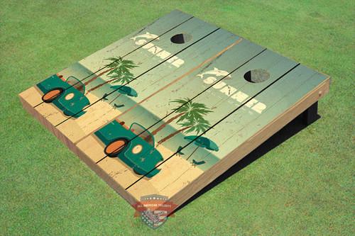 Custom Corn Hole Beach Life #2 Graphic Cornhole Boards