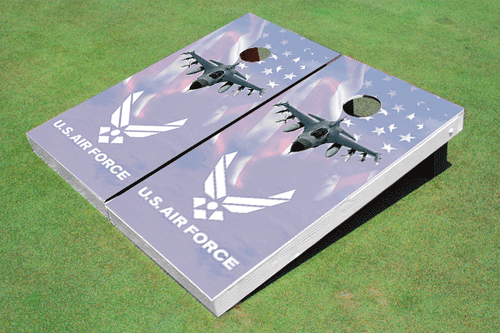 F-16 Air Force Custom Cornhole Board