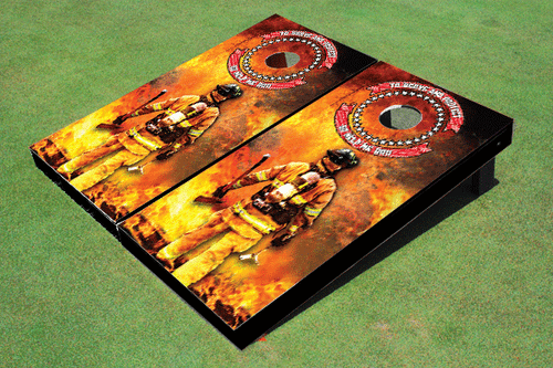 Firefighter Cornhole Board set