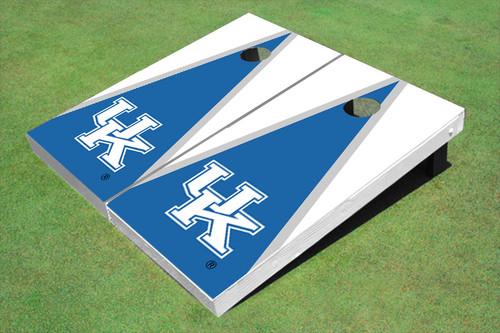 University Of Kentucky Blue And White Matching Triangle Cornhole Boards
