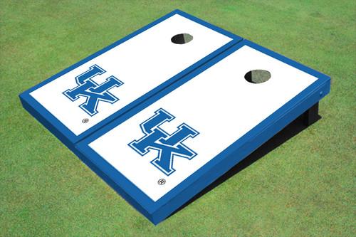 University Of Kentucky Blue Matching Border Cornhole Boards