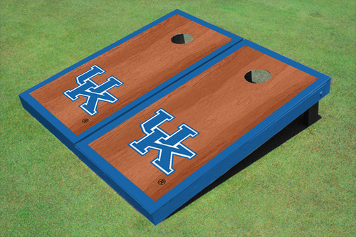 University Of Kentucky Blue Rosewood Matching Borders Cornhole Boards