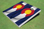 Colorado State Flag Custom Cornhole Board