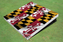 Maryland State Flag Custom Cornhole Board