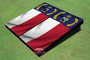 North Carolina State Flag Custom Cornhole Board