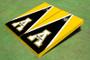 """Appalachian State University """"A"""" Black And Yellow Matching Triangle Cornhole Boards"""