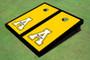 """Appalachian State University """"A"""" Black Matching Border Cornhole Boards"""