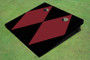 Maroon And Black Matching Diamond No Stripe Custom Cornhole Board