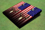 American Flag Deer Skull Themed Cornhole Boards