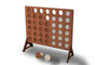 Giant Rosewood Connect 4 / 4 In A Row / 4 To Score - Premium Rosewood Wooden Connect 4 Game
