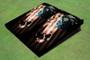 Custom Torn American Flag Skull Cornhole Board