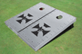 Rivet Iron Cross With Skull Custom Cornhole Board