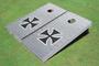 Rivet Iron Cross Custom Cornhole Board
