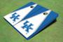 University Of Kentucky White And Blue Matching Triangle Cornhole Boards