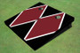 Maroon And Black Matching Diamond Custom Cornhole Board