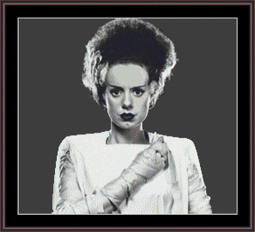 Bride of Frankenstein cross stitch pattern
