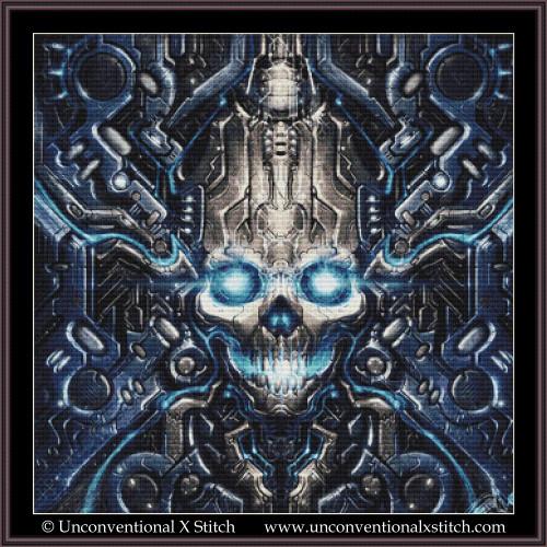 Dark Cybernetics cross stitch pattern