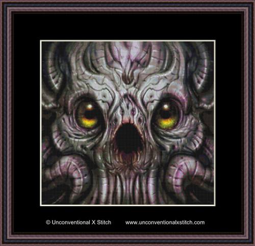 Alien Species cross stitch pattern