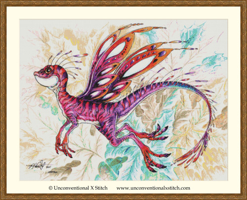 Pixie Dragon cross stitch pattern