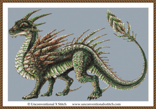 Earth Dragon cross stitch pattern