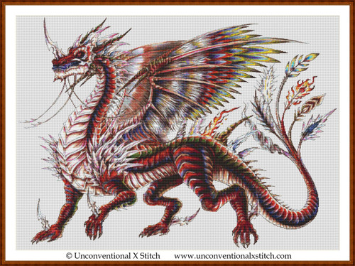 Neo Dragon cross stitch pattern (BR)