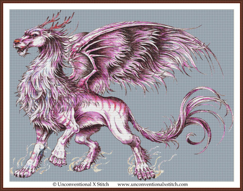Sky Dragon cross stitch pattern