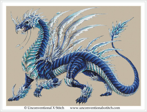 Blizzard Dragon cross stitch pattern