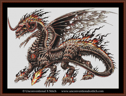 Death Dragon cross stitch pattern