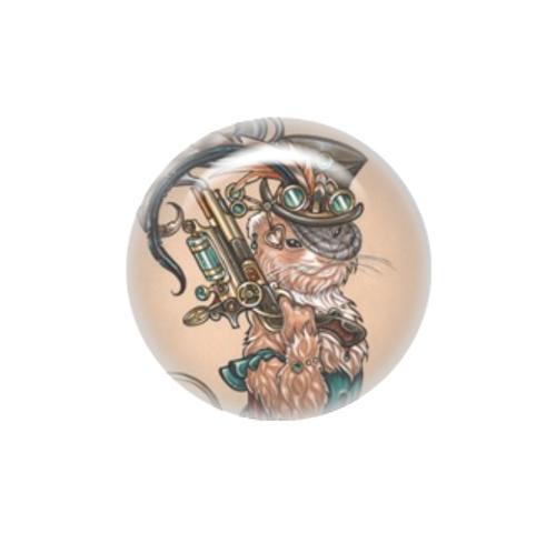 Clara the steampunk bounty hunter ferret needle minder - Natalie Ewert