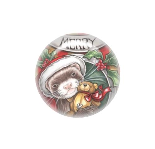 Christmas Ferret.Christmas Ferret Needle Minder Natalie Ewert