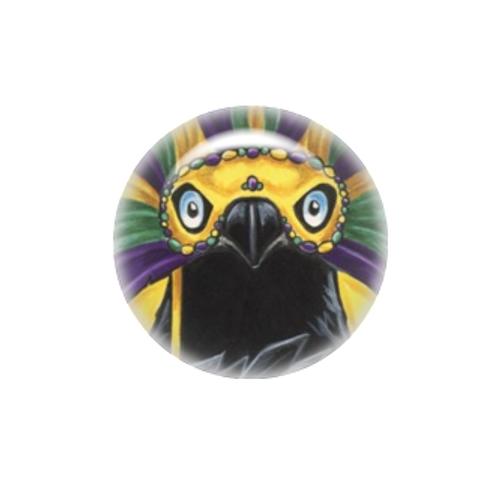 Mardi Gras Raven needle minder - Natalie Ewert