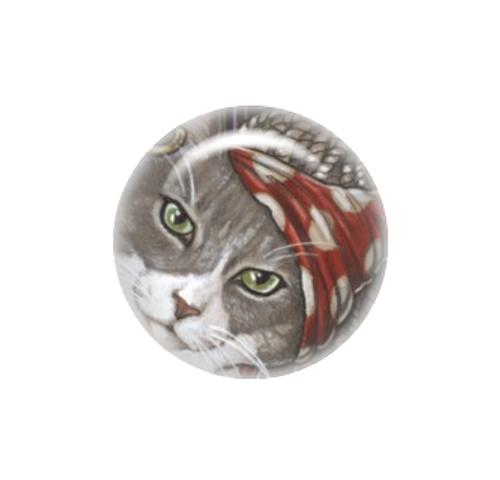 Pirate cat #10 needle minder - Natalie Ewert