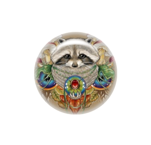 The Magic Raccoon needle minder - Natalie Ewert