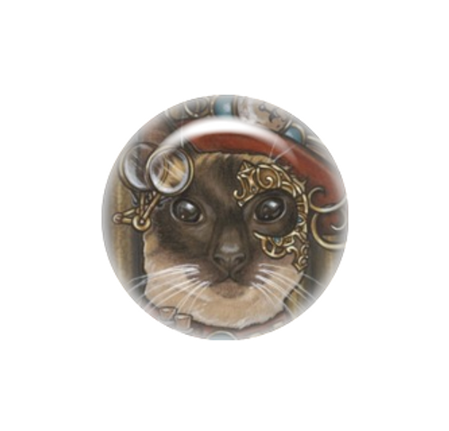 Zsa Zsa The Steampunk Cat needle minder - Natalie Ewert