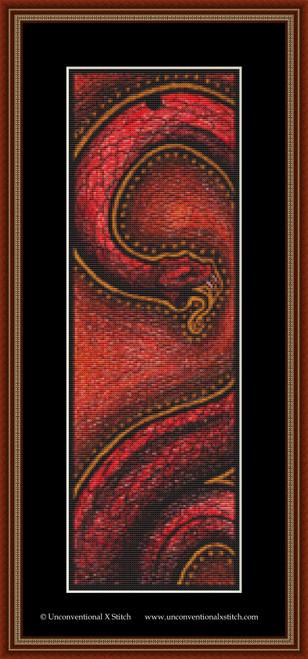 Tribal Snake cross stitch pattern
