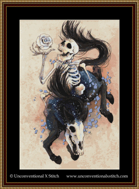 Death XIII Tarot Card cross stitch pattern
