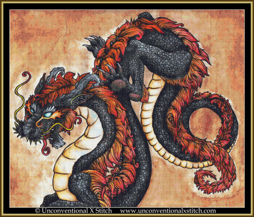 Eastern Dragon cross stitch pattern (Extract edition)