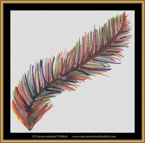 Feather Pastel cross stitch pattern