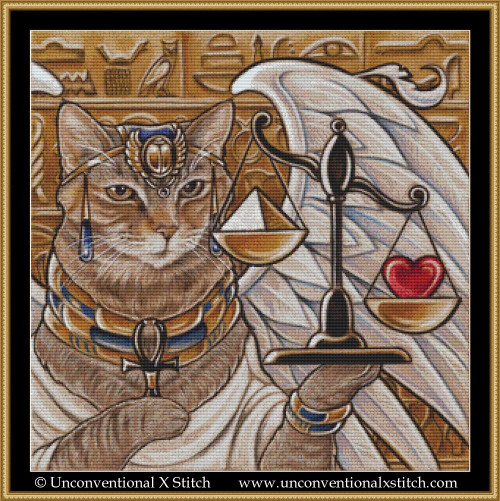 Isis the Egyptian Queen cross stitch pattern