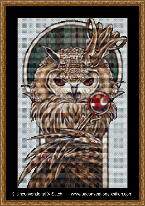 Screech cross stitch pattern (Miniature Edition)