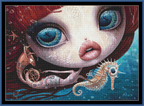 Song of the Sea mermaid  cross stitch pattern
