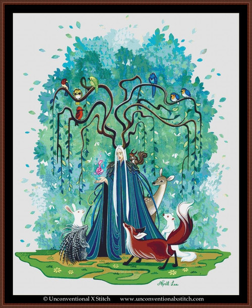 The Forest King of the West cross stitch pattern