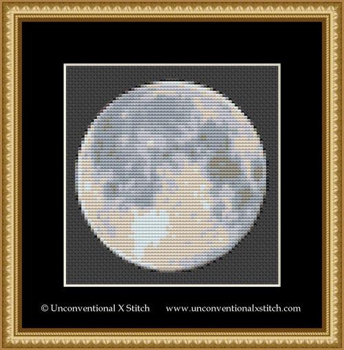 Moon Miniature cross stitch pattern