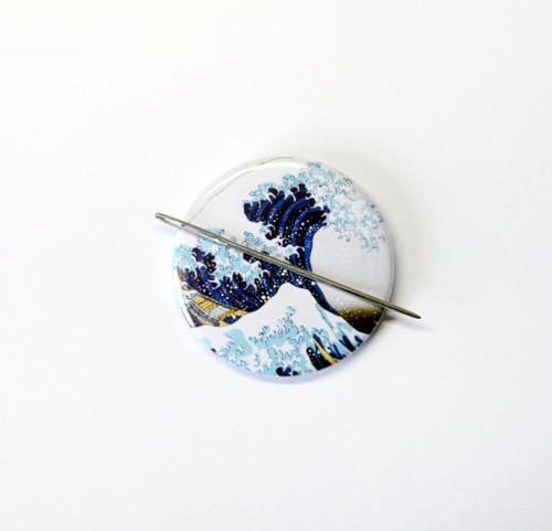 Great Wave off Kanagawa needle minder