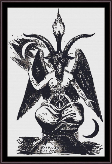 Baphomet cross stitch pattern